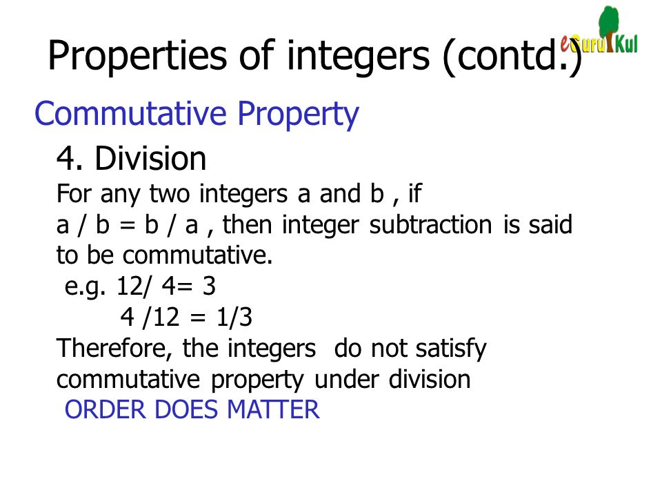 Mathematics Class VII Chapter 1 Integers  - ppt video online