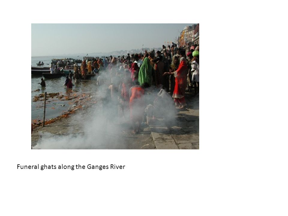 Funeral ghats along the Ganges River