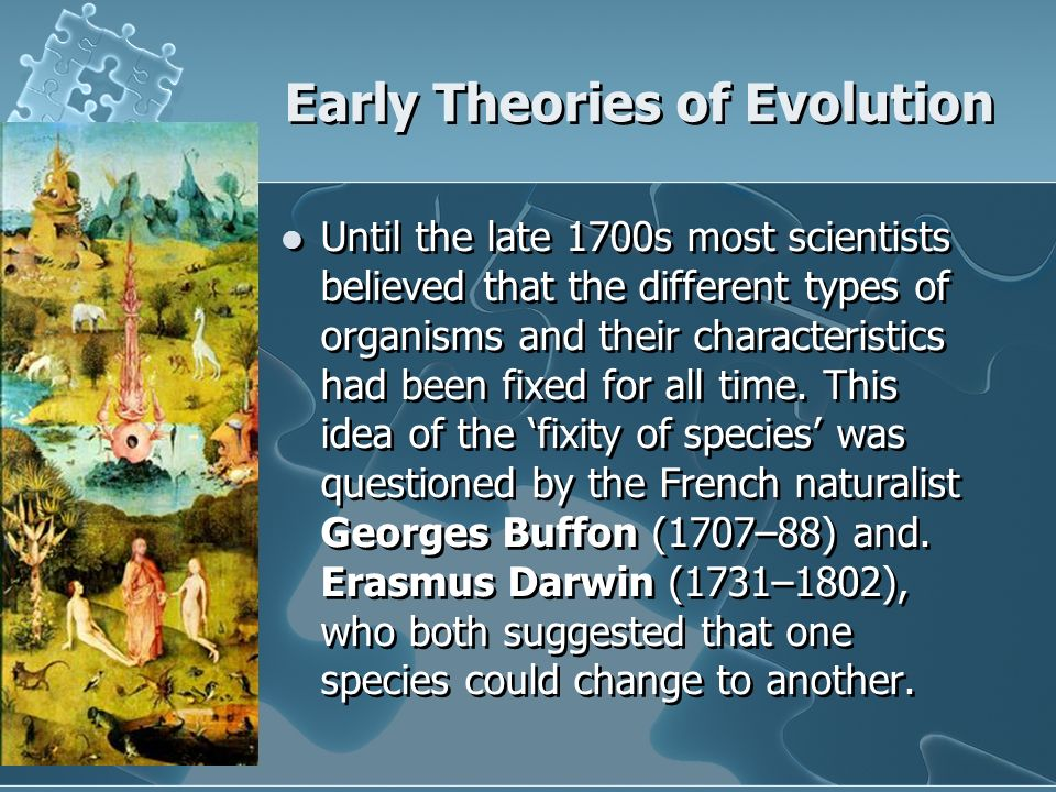different theories of evolution pdf