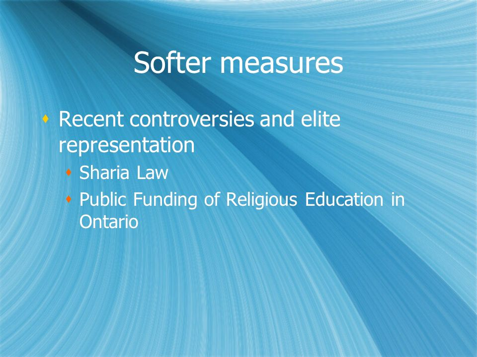 Softer measures Recent controversies and elite representation