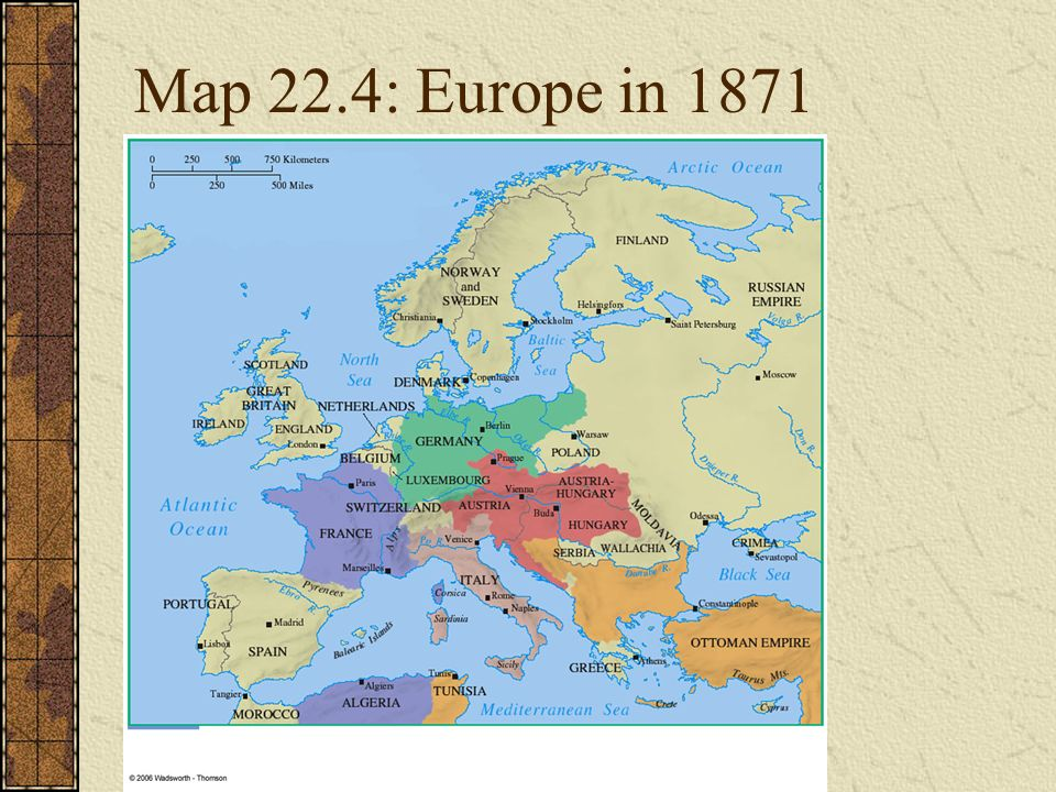 Map Of Europe In 1871.An Age Of Nationalism And Realism Ppt Download