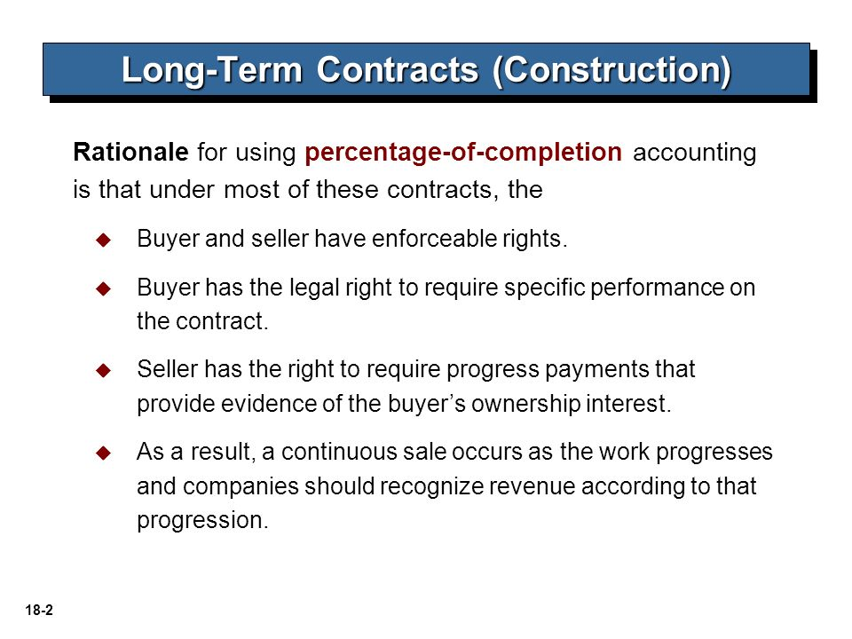 accounting for contract