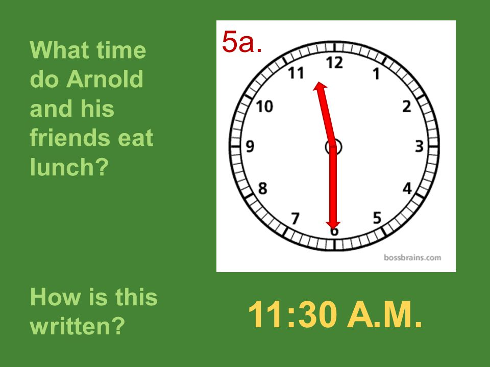 What time do Arnold and his friends eat lunch