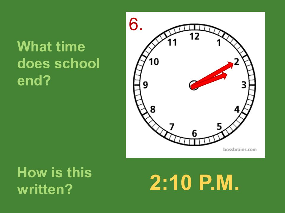 What time does school end