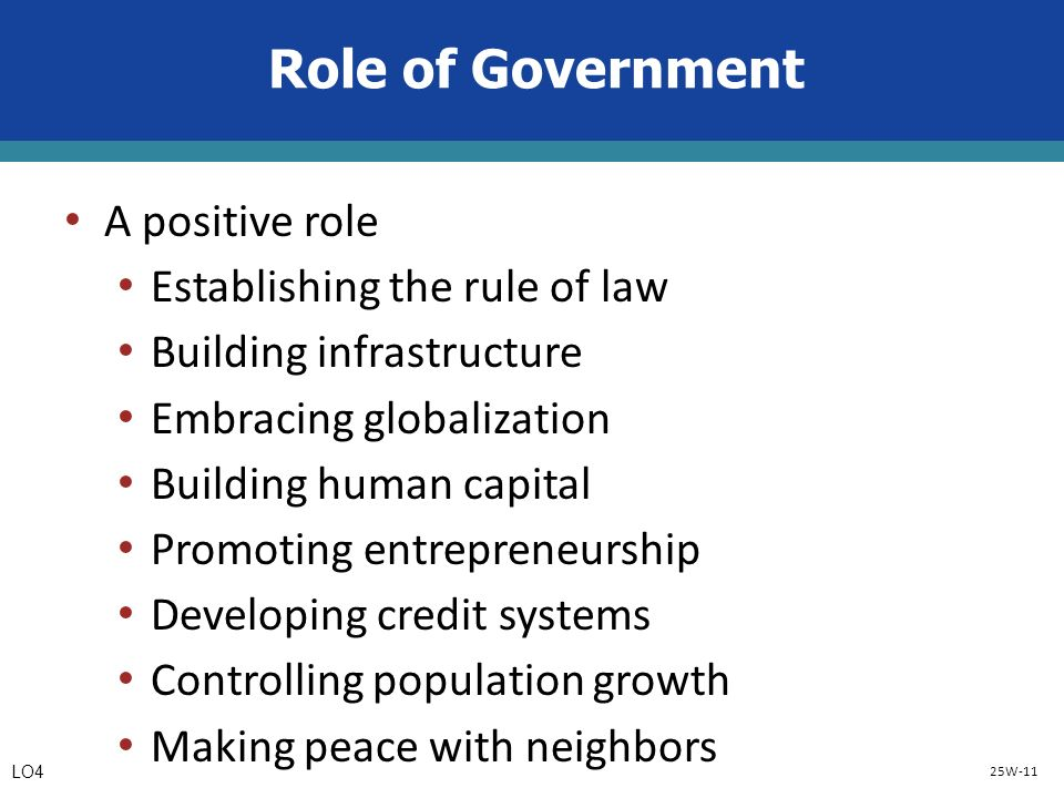 role of government in development