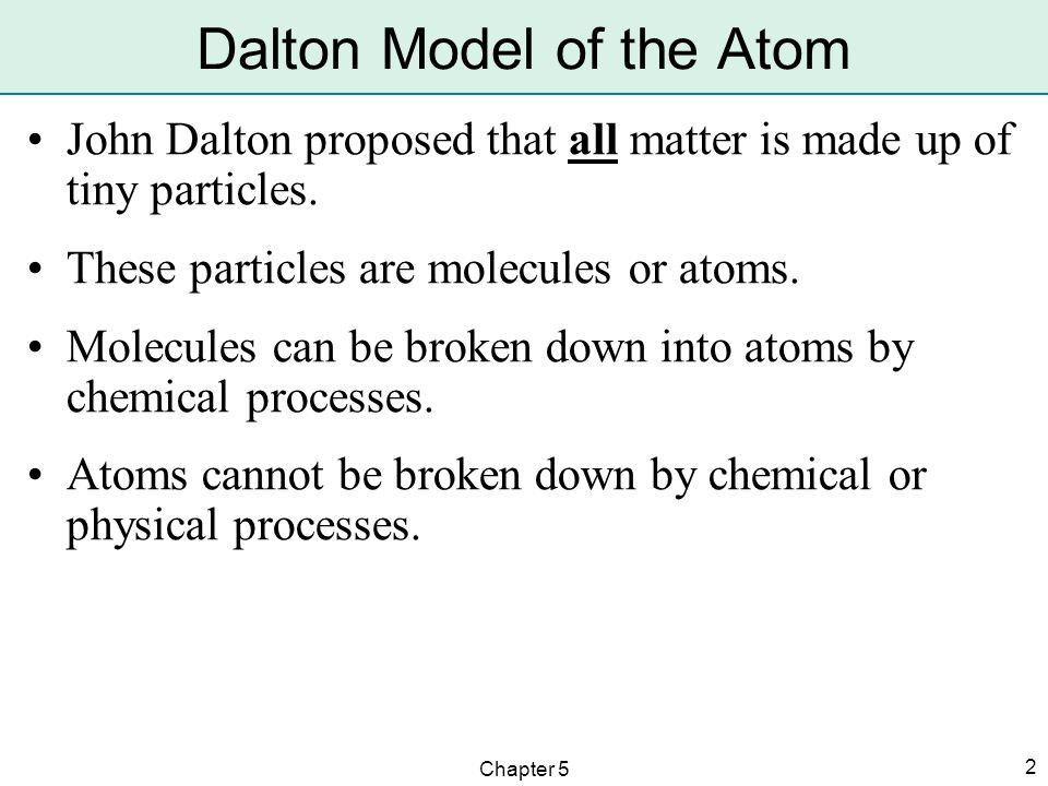 dalton model of the atom