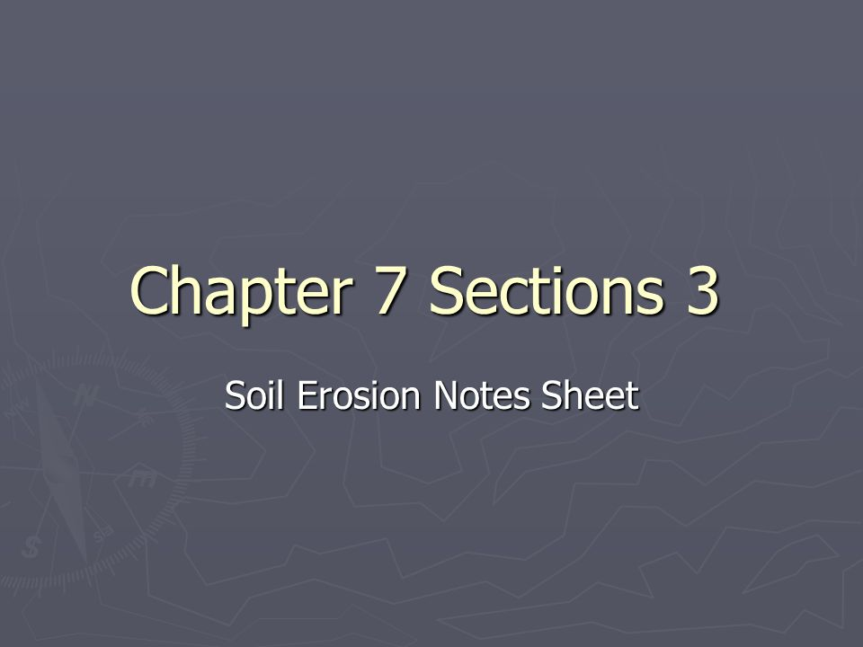Soil Erosion Notes Sheet