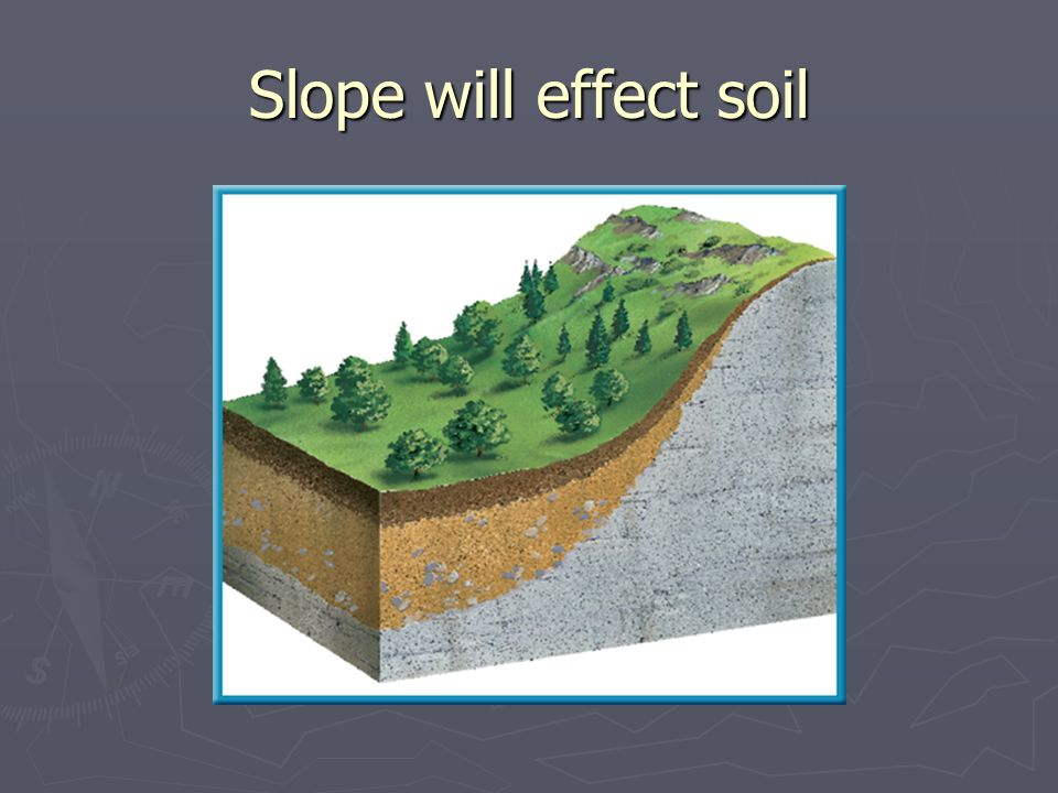 Slope will effect soil