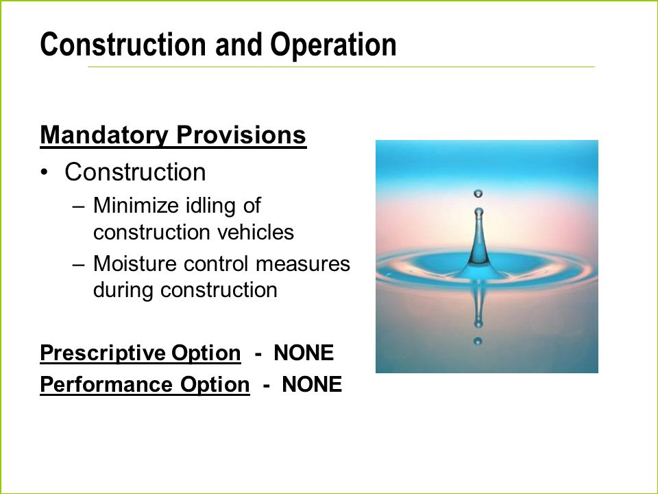 Construction and Operation