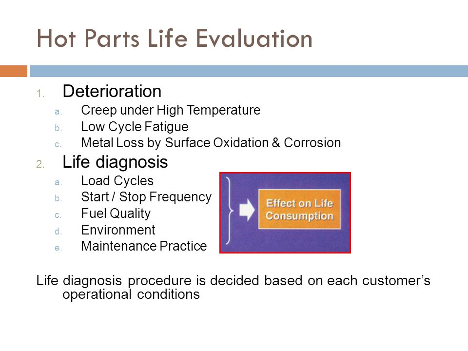 Hot Parts Life Evaluation