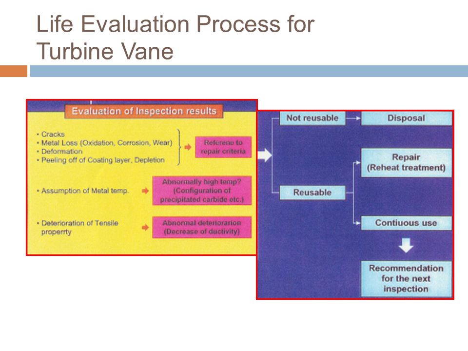 Life Evaluation Process for Turbine Vane