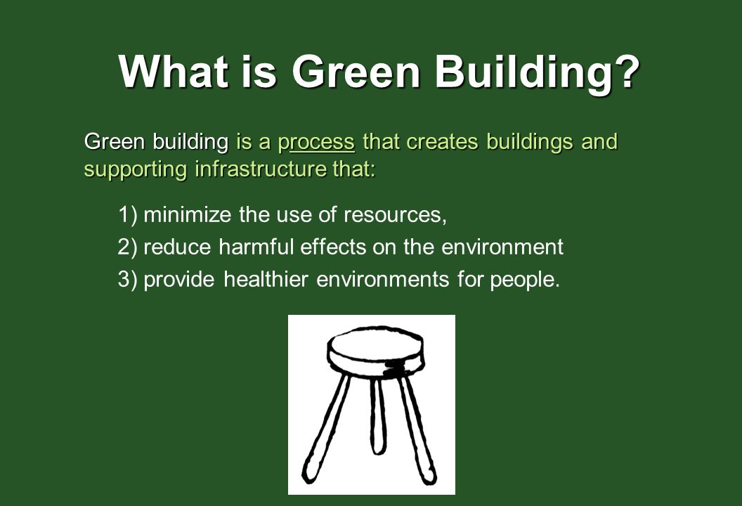 What Is Green Building A Process That Creates Buildings And Supporting Infrastructure
