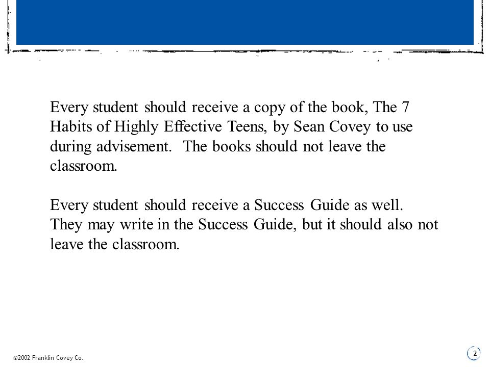 Every Student Should Receive A Copy Of The Book The 7 Habits Of