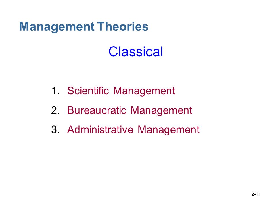 what is classical management theory
