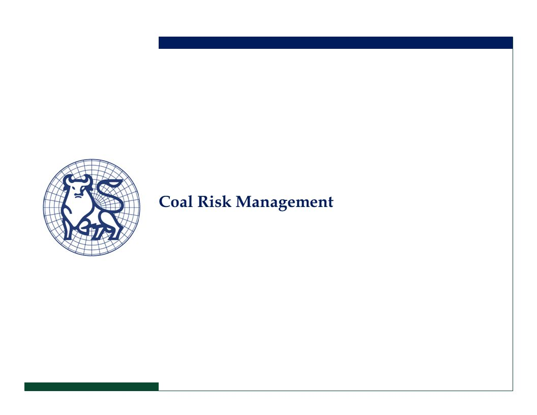 Coal Risk Management