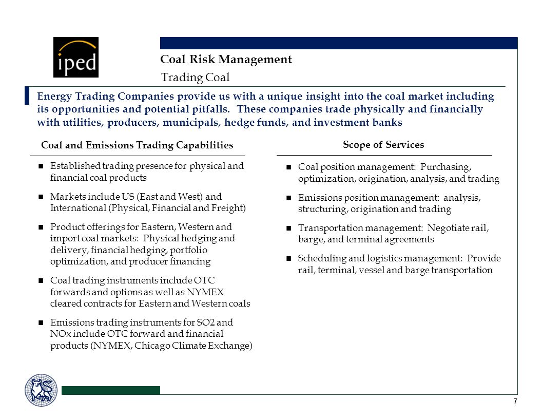 Coal and Emissions Trading Capabilities