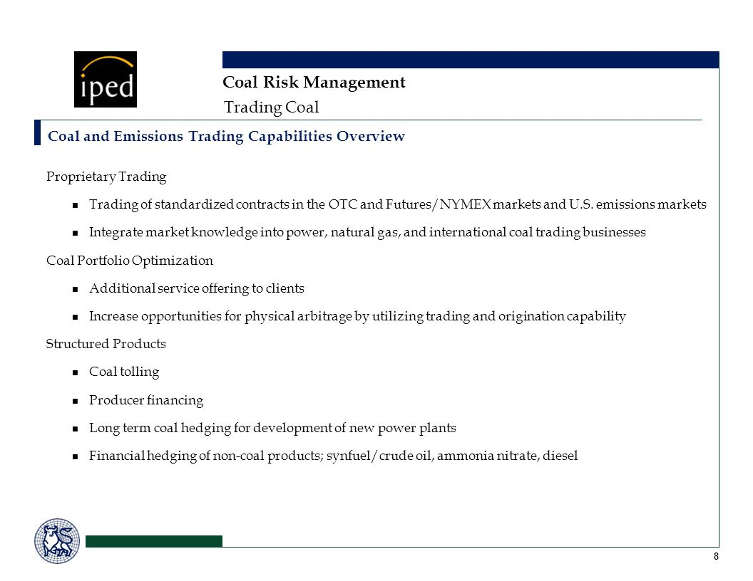 Coal Risk Management Trading Coal