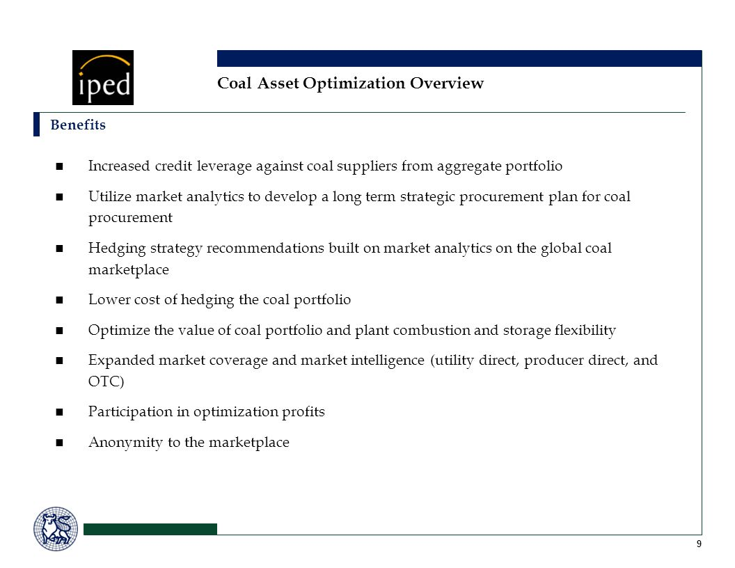 Coal Asset Optimization Overview