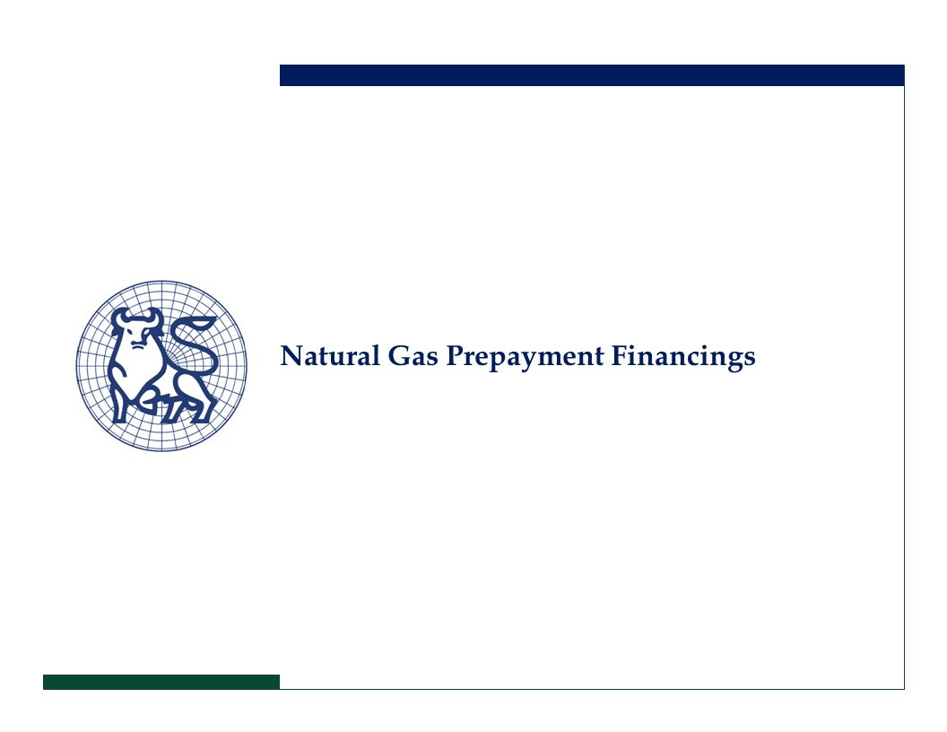 Natural Gas Prepayment Financings