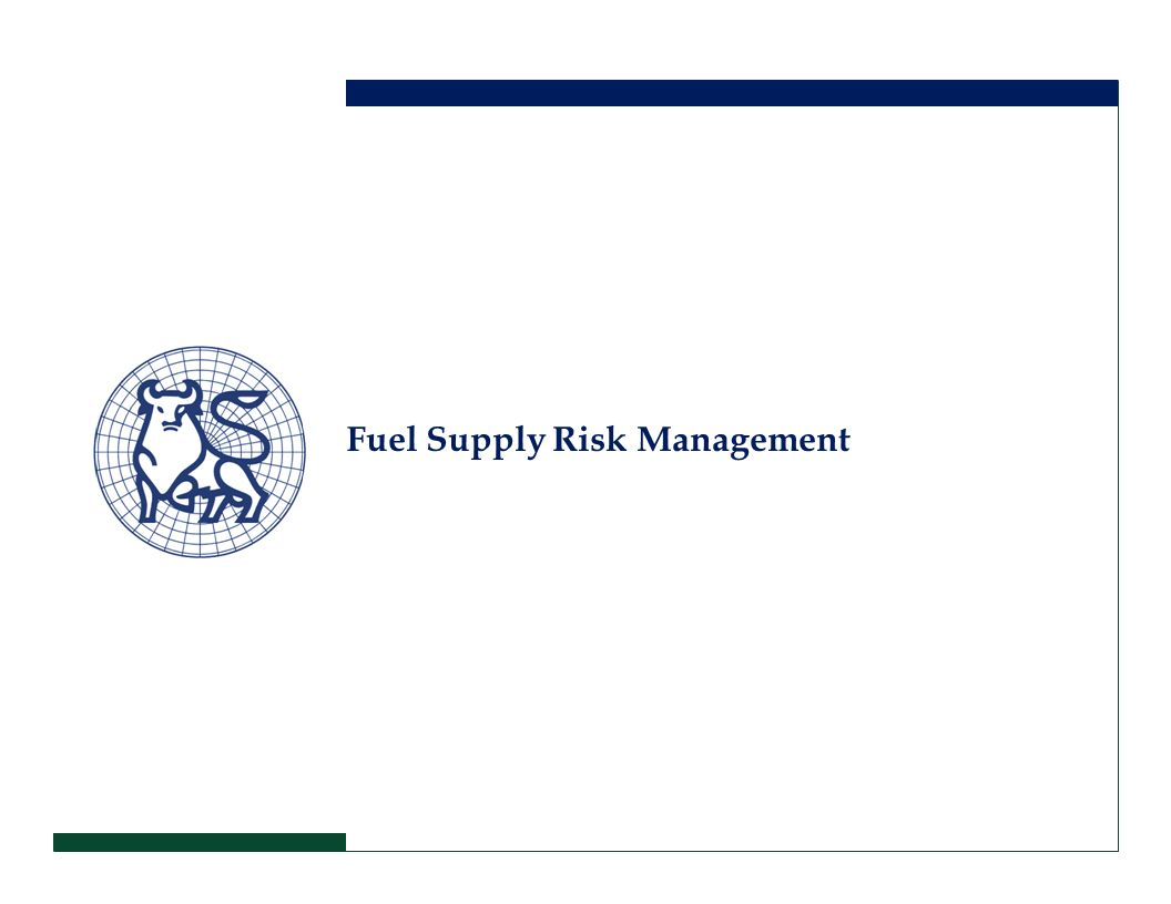 Fuel Supply Risk Management