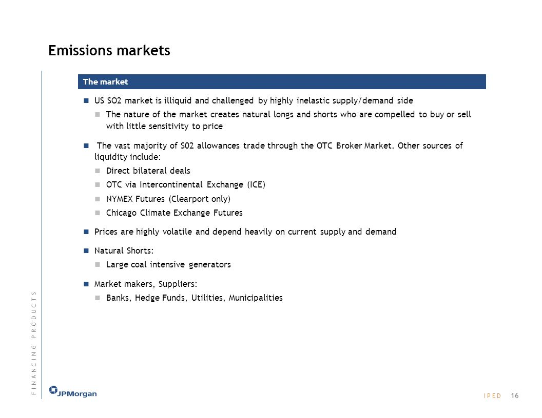 Emissions markets The market. US SO2 market is illiquid and challenged by highly inelastic supply/demand side.