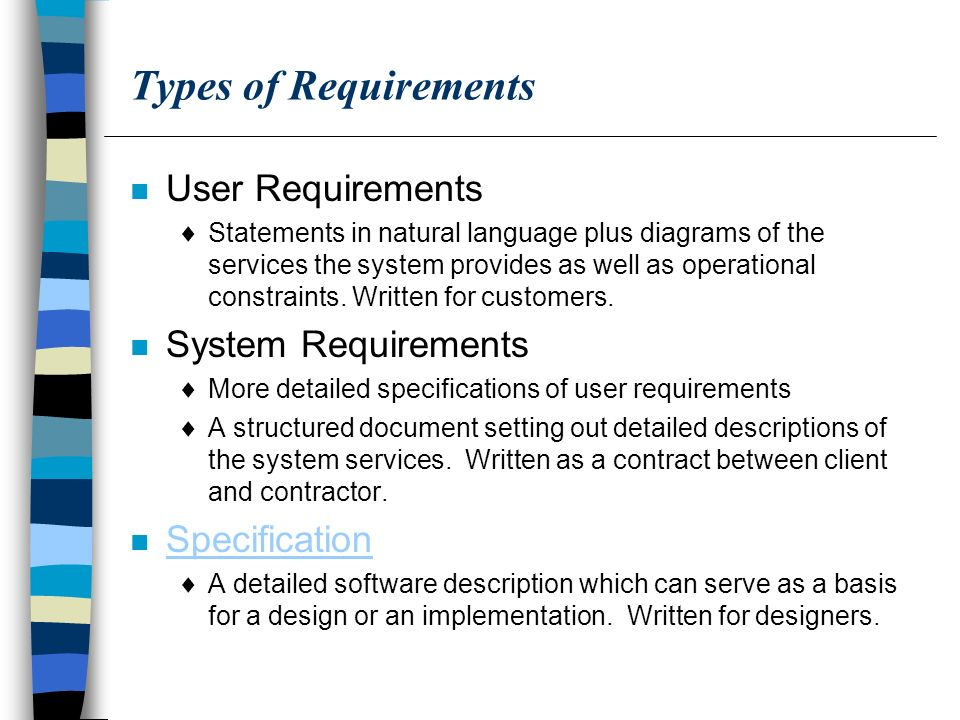 Requirements Analysis Ppt Download - User requirements