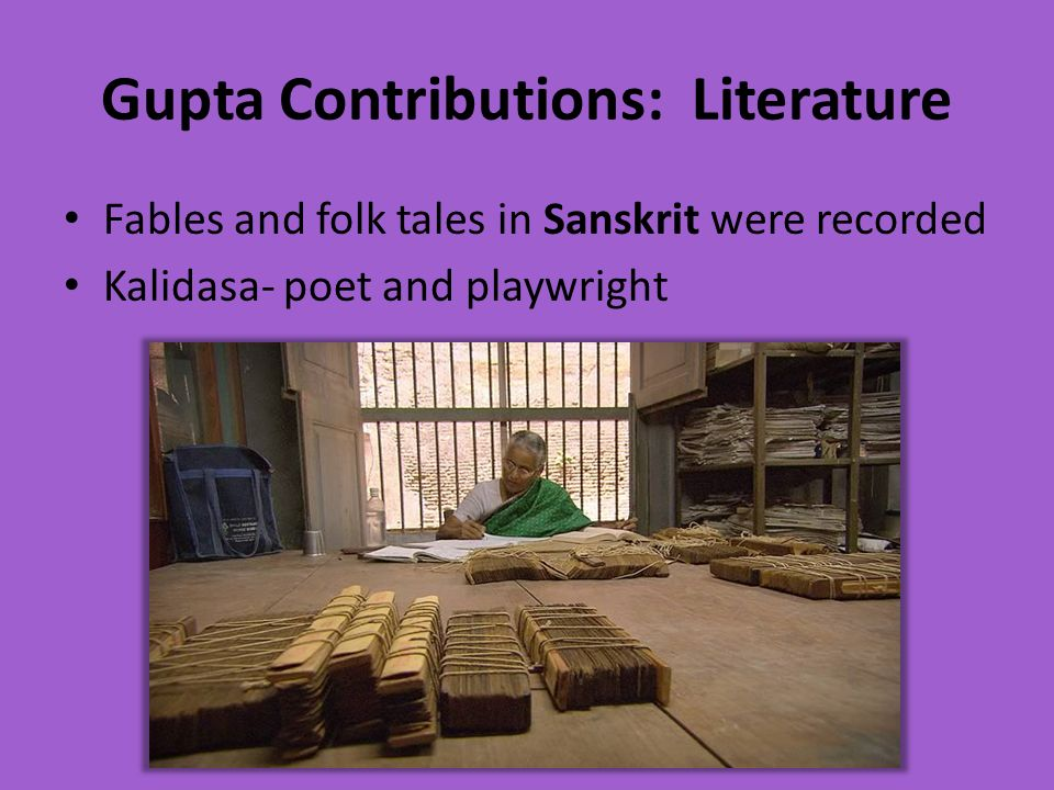 Gupta Contributions: Literature