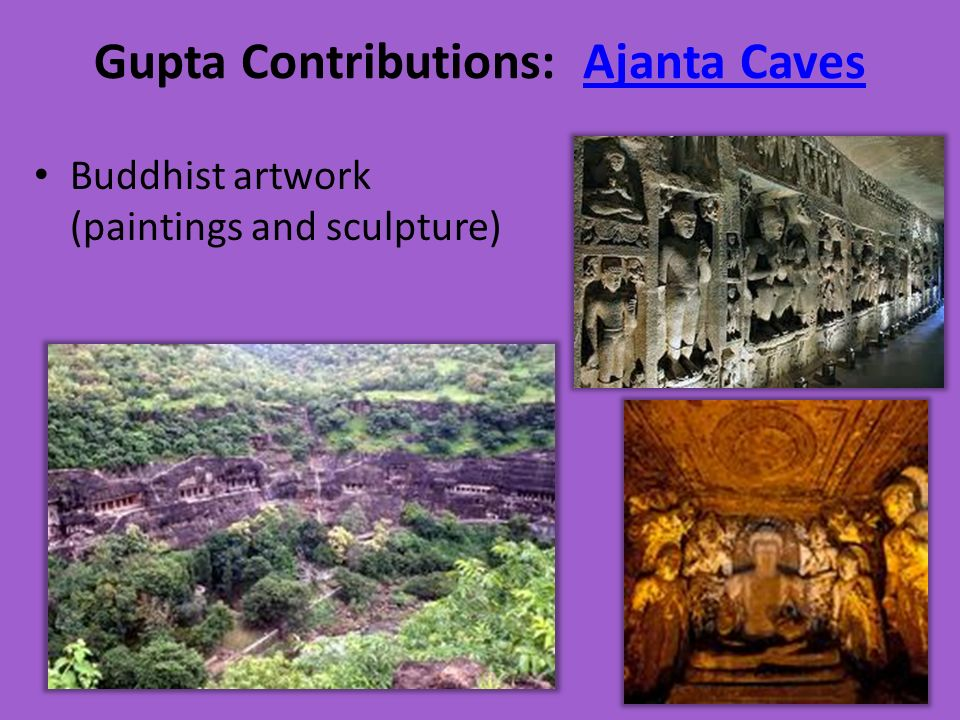 Gupta Contributions: Ajanta Caves