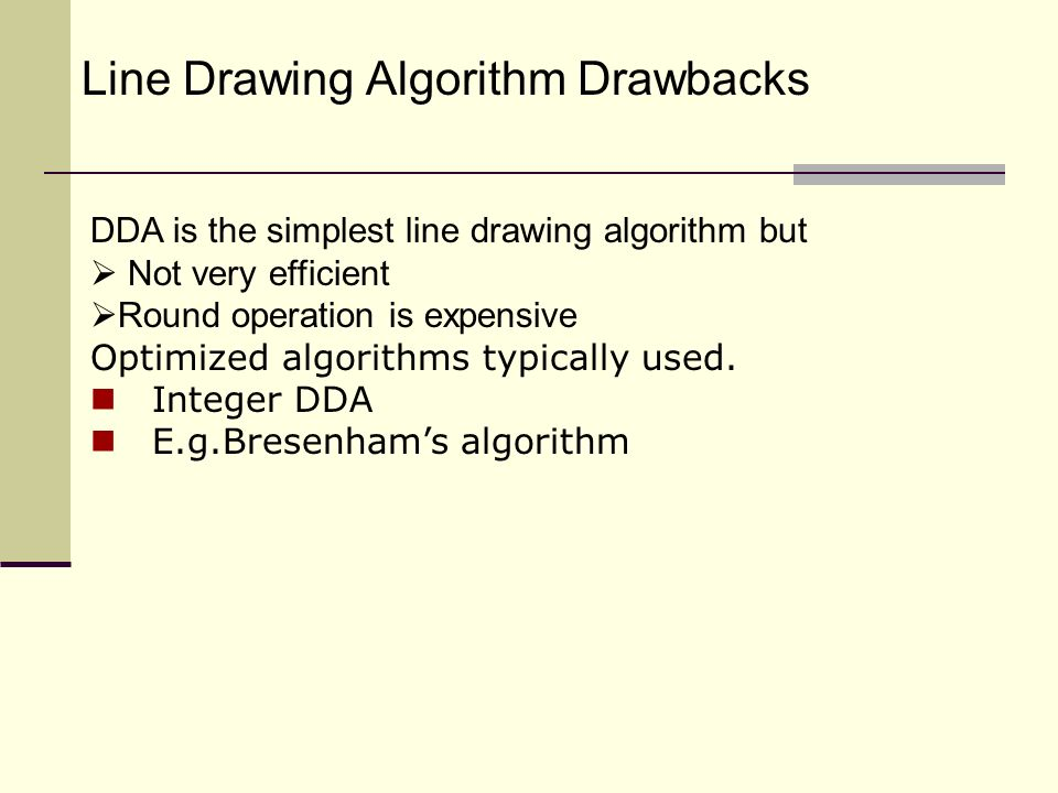 Dda Line Drawing Algorithm With Negative Slope : Scan conversion line and circle ppt video online download