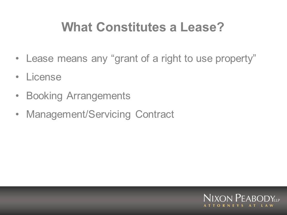What Constitutes a Lease