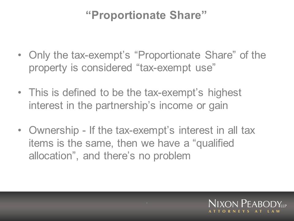 Proportionate Share