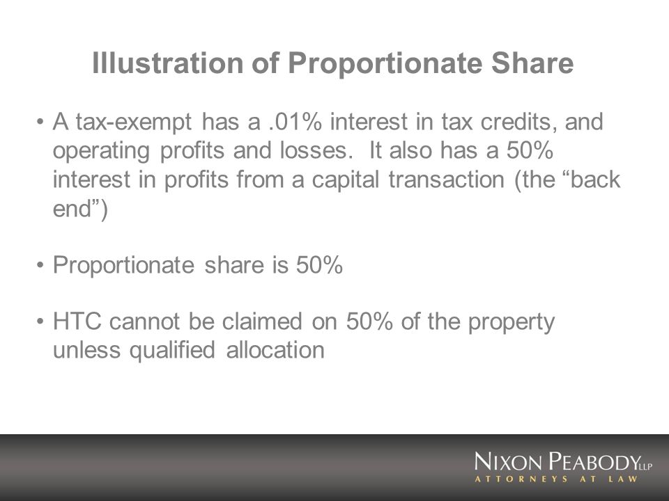 Illustration of Proportionate Share