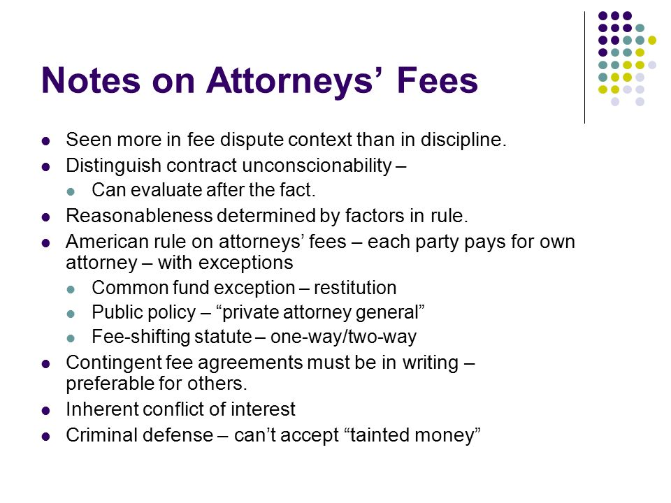 Ethical Limitations On Fees And Fee Sharing Ppt Download