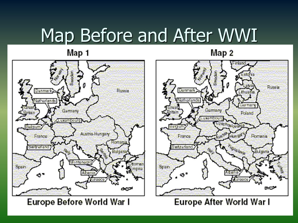 Goal 8 world war i ppt download 73 map before and after wwi gumiabroncs Images