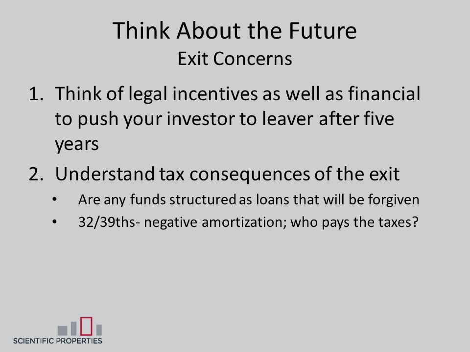 Think About the Future Exit Concerns