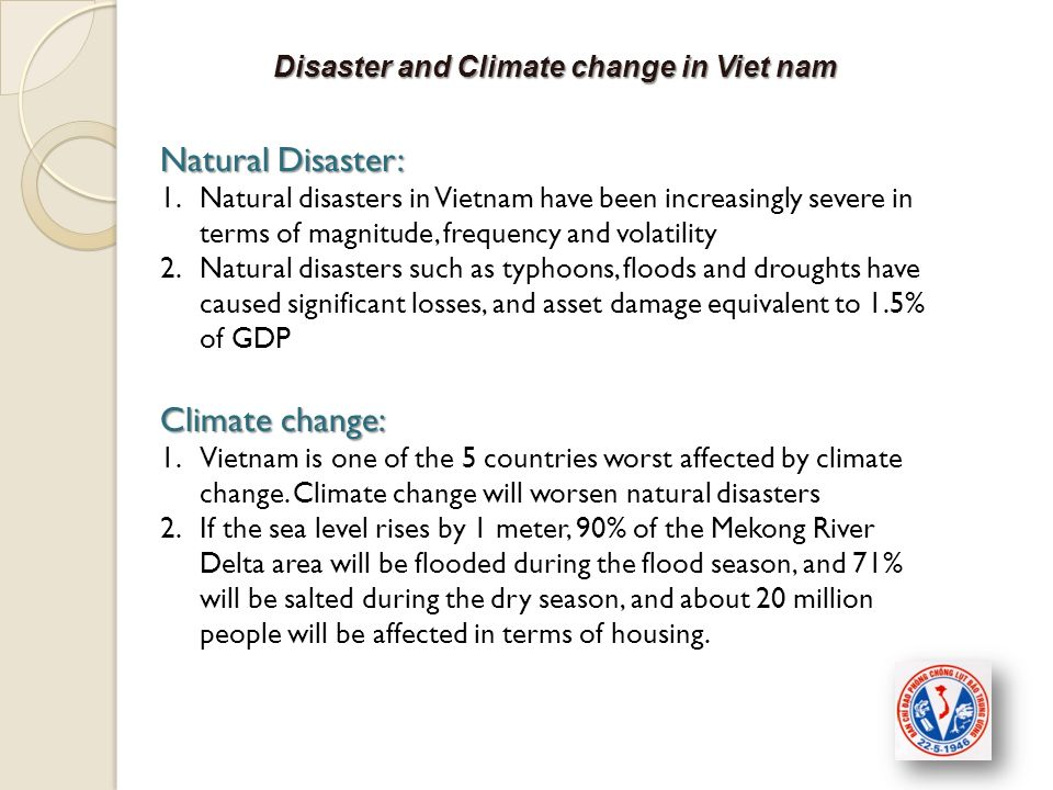 Disaster and Climate change in Viet nam