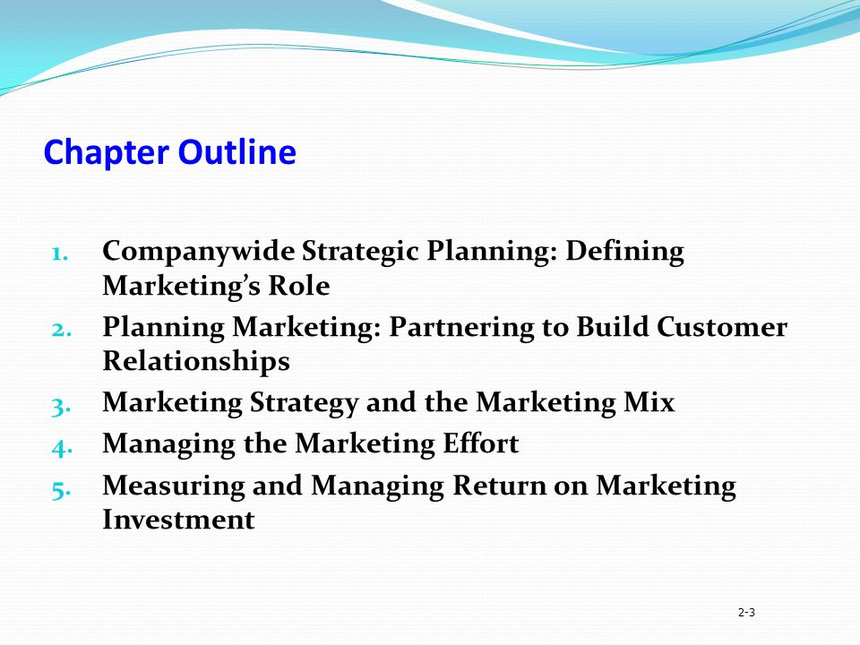 principles of marketing chapter 2 pdf