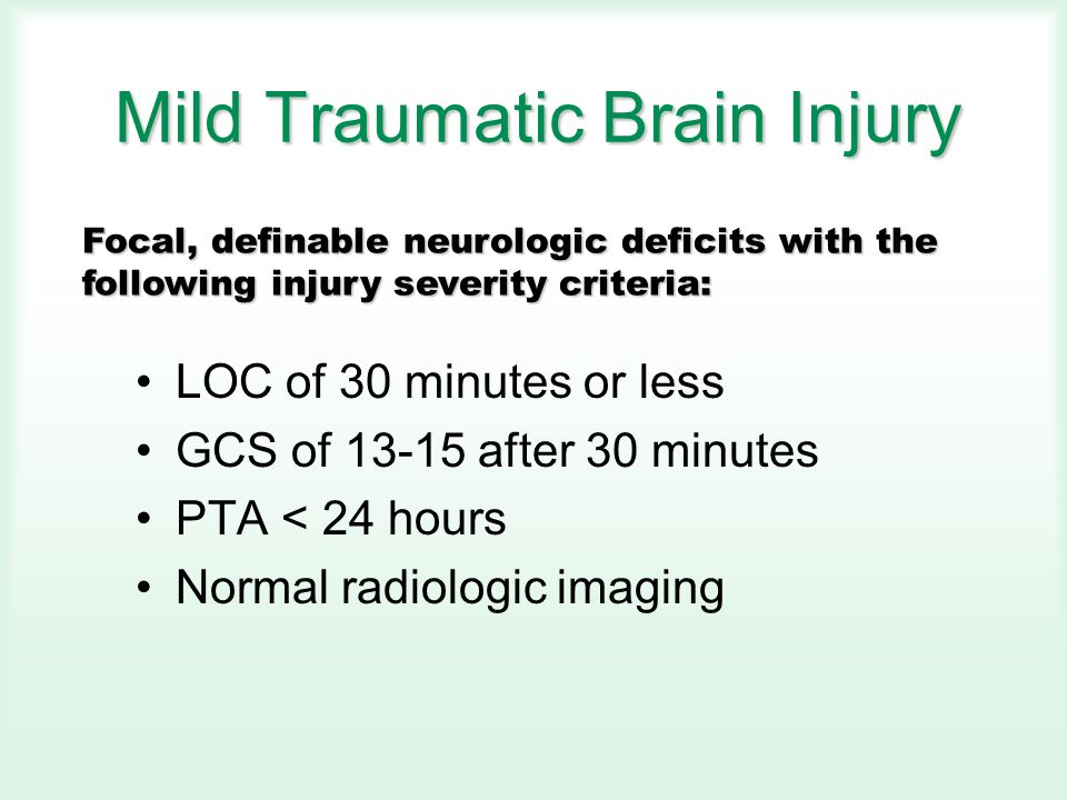 Mild Brain Injury Concussion In The Workplace Stephen C  Bloom, DO