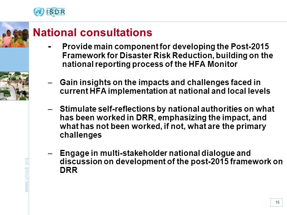 National consultations