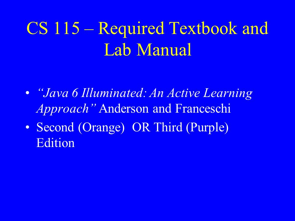 Java 6 illuminated manual array welcome to iit and cs115 ppt download rh slideplayer com fandeluxe Images