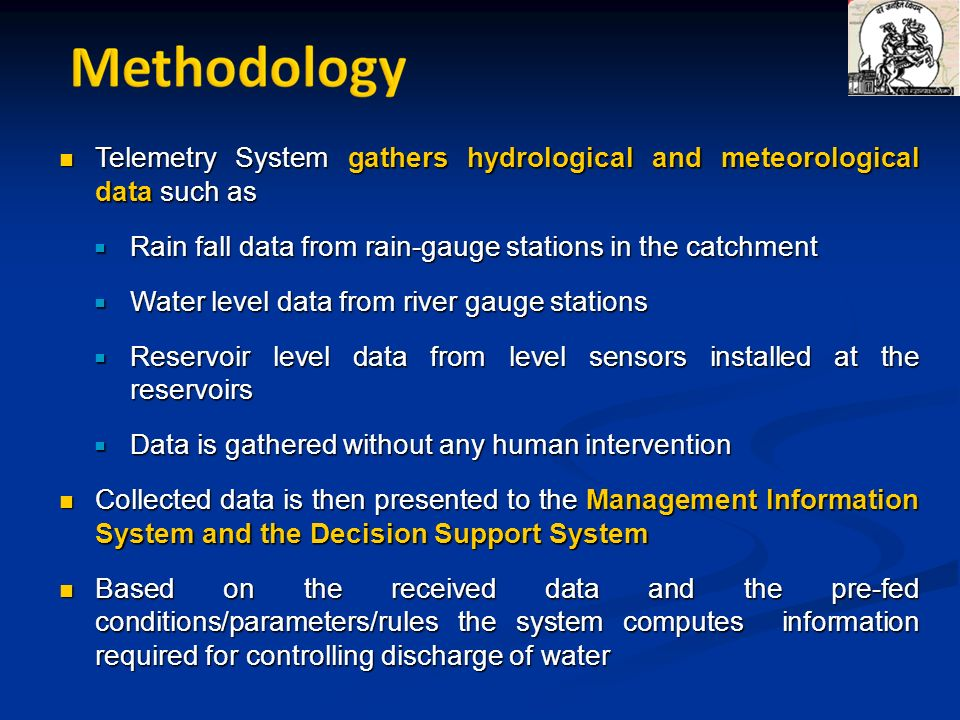 Telemetry System gathers hydrological and meteorological data such as