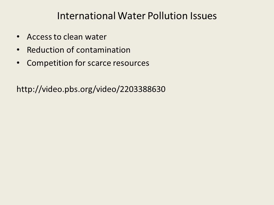 International Water Pollution Issues