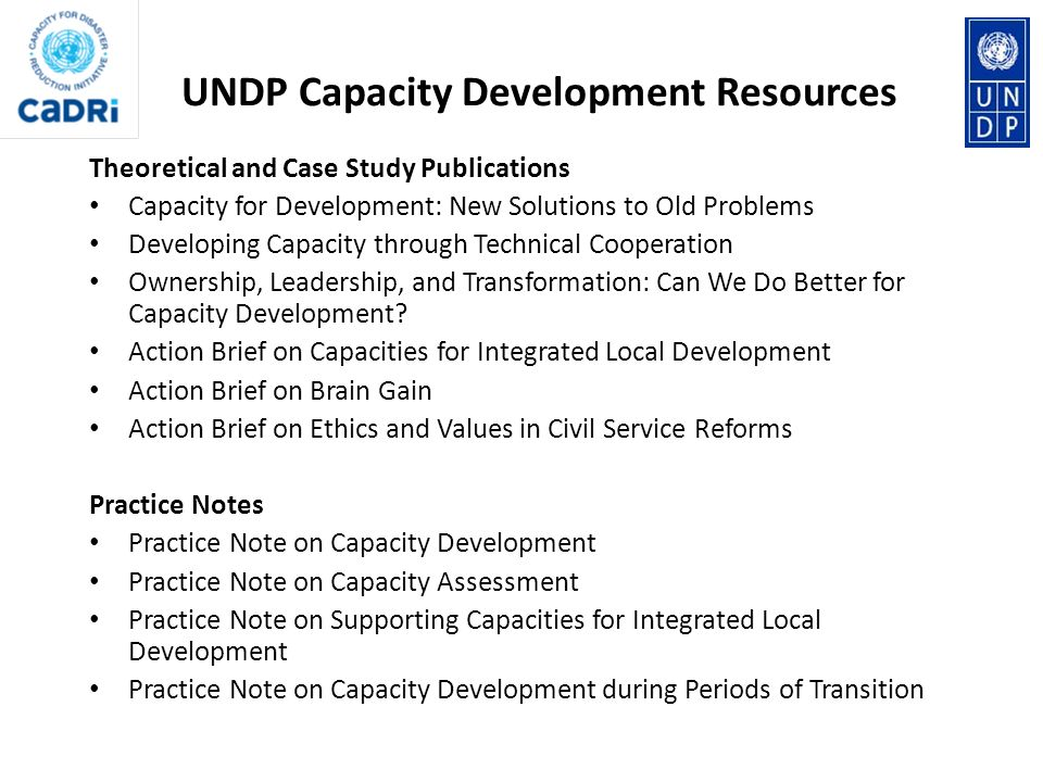 UNDP Capacity Development Resources