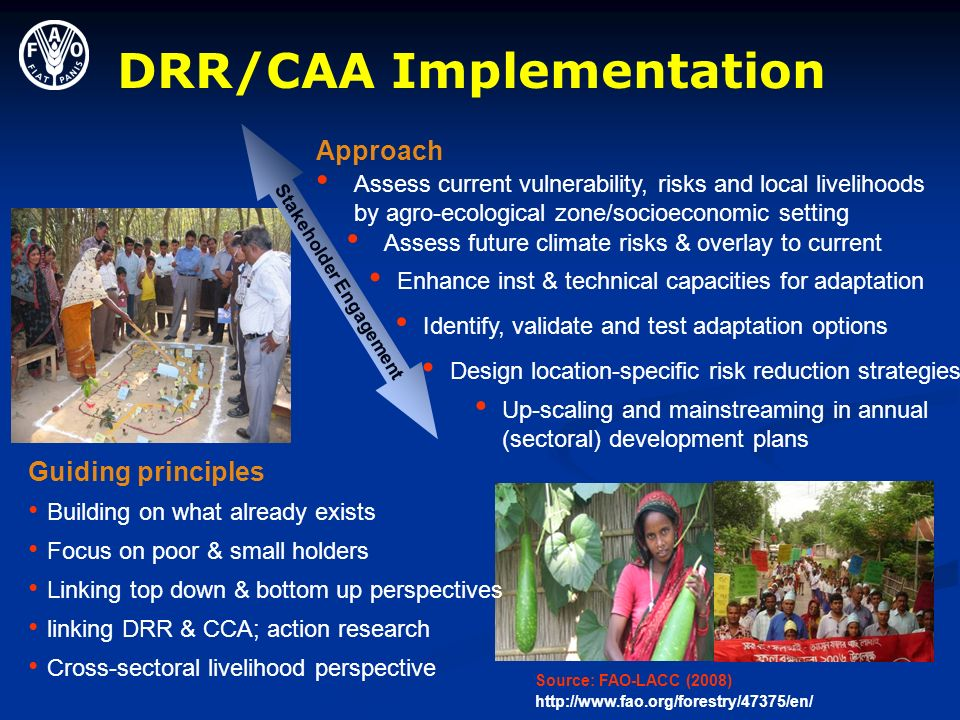 DRR/CAA Implementation Stakeholder Engagement