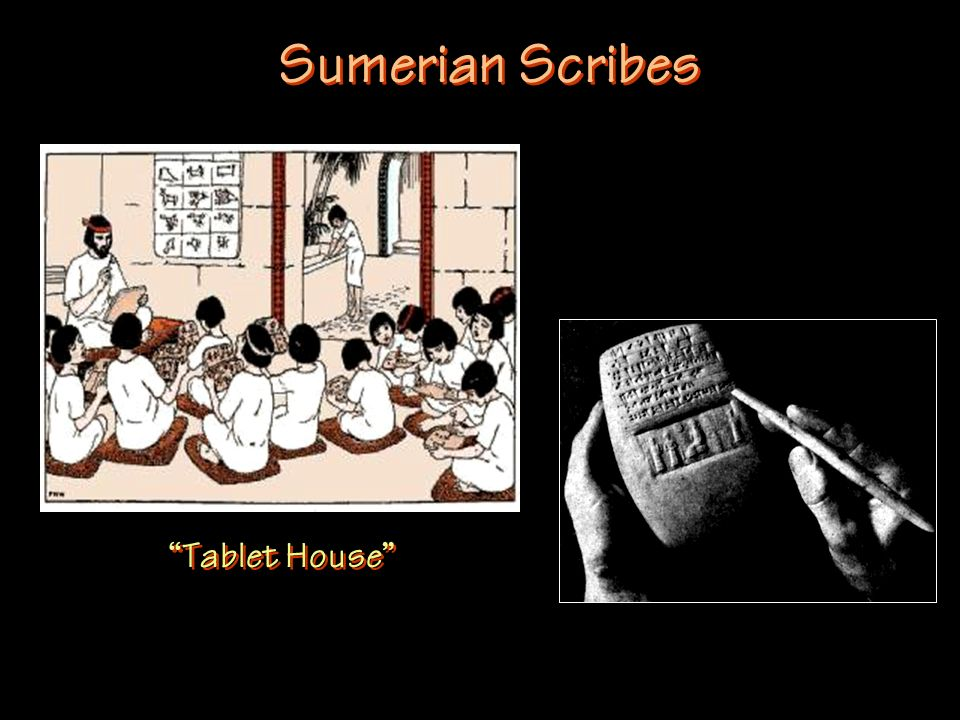 Sumerian Scribes Tablet House