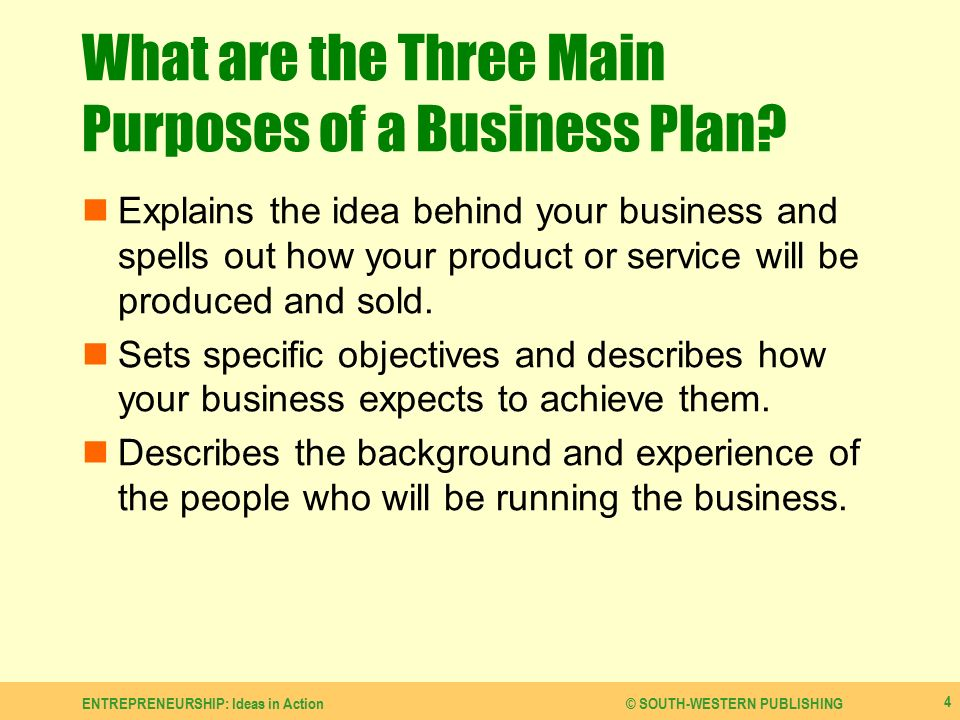 Main purposes for a business plan masters disseration