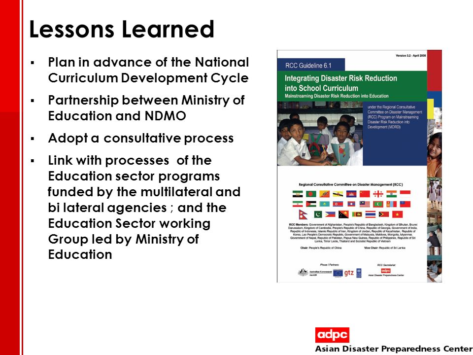 Lessons Learned Plan in advance of the National Curriculum Development Cycle. Partnership between Ministry of Education and NDMO.