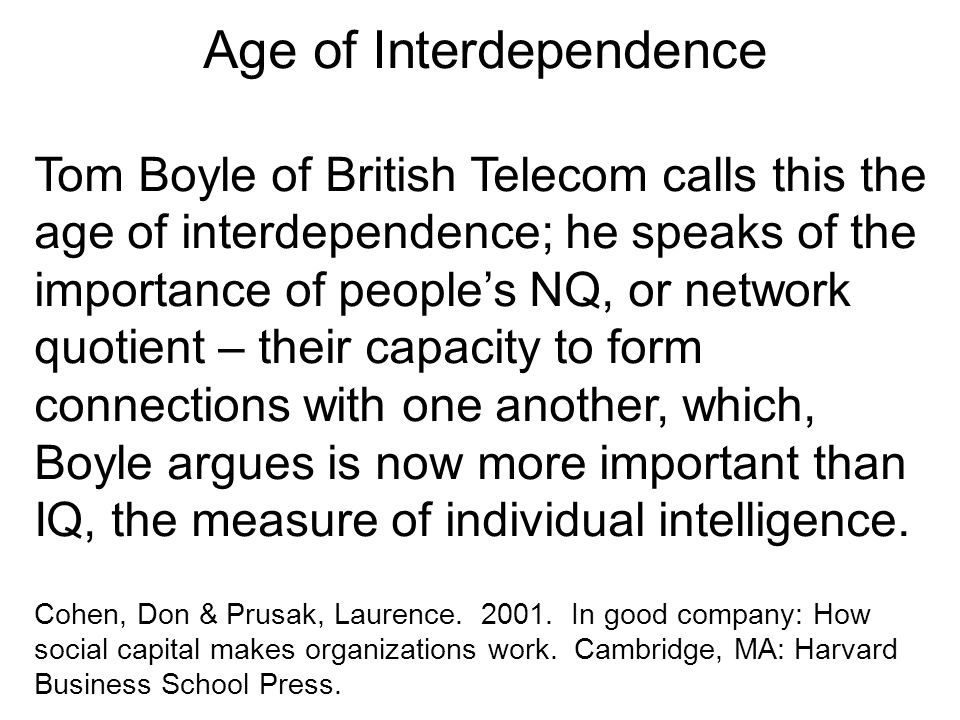 Age of Interdependence