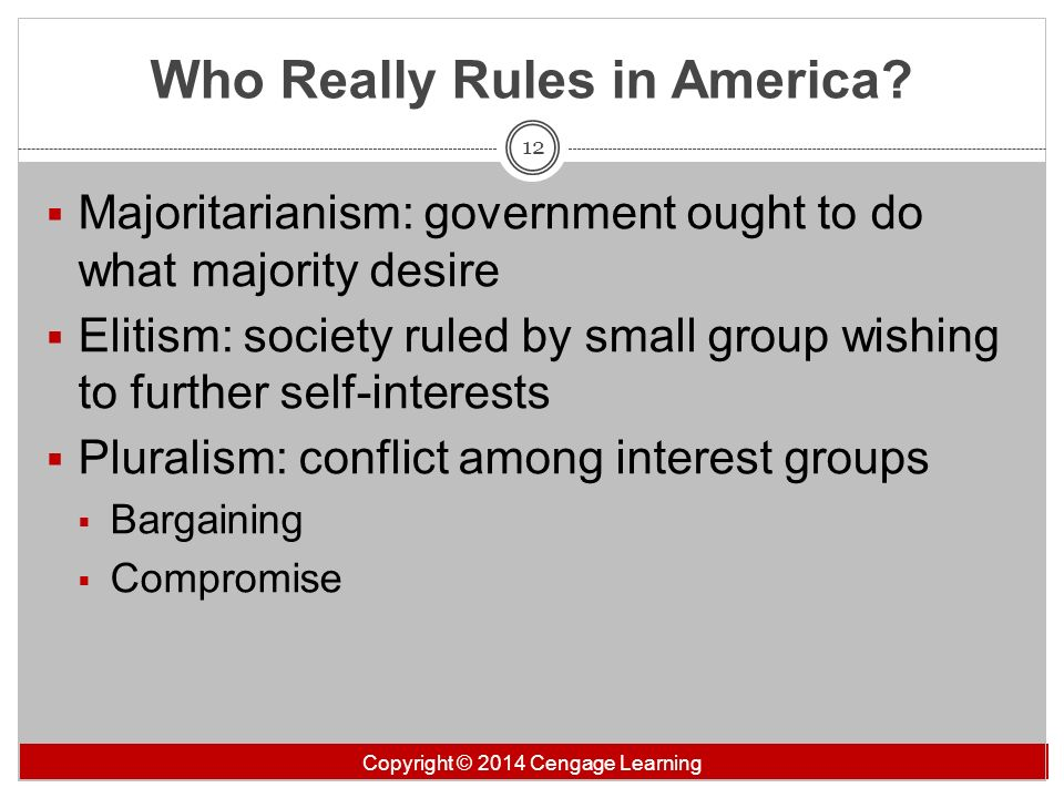 Who Really Rules in America