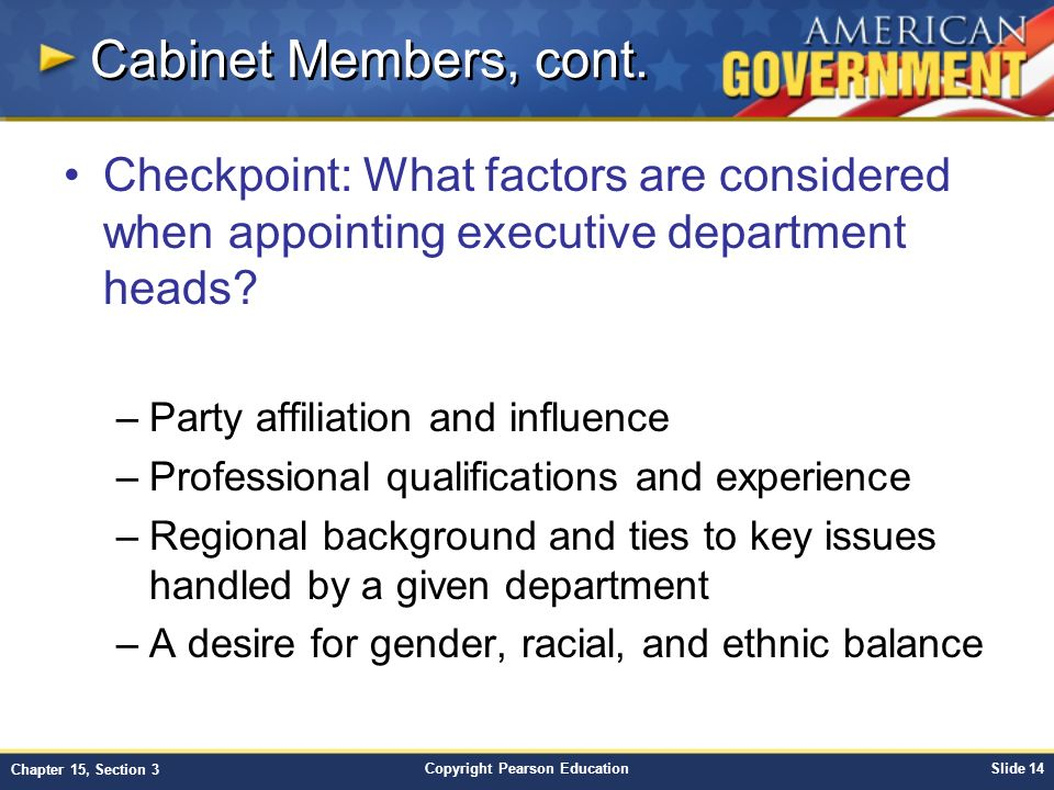 chapter 15: government at work: the bureaucracy section 3 - ppt